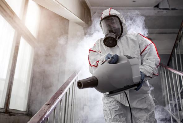 Terceirização de limpeza e desinfecção de ambientes